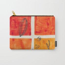 Orange / Sticks & Seeds Carry-All Pouch