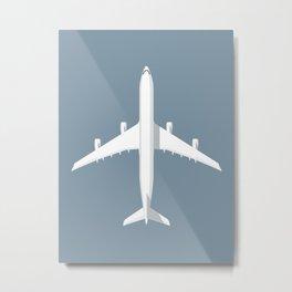 A340 Passenger Jet Airliner - Slate Metal Print