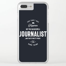 Happiness Journalist Clear iPhone Case