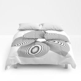 Bio Flower Art Print Comforters