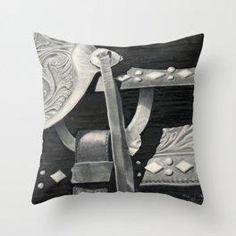 Side Saddle Throw Pillow