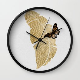 Butterfly & Palm Wall Clock