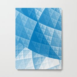 Blue abstract pattern Metal Print