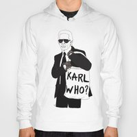 karl lagerfeld Hoodies featuring Karl by Les Gutiérrez
