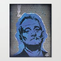 bill murray Canvas Prints featuring Bill Murray by ChrisCleveland