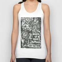 tattoos Tank Tops featuring House of 1000 Tattoos by Zombies by RickOrmortis Schreck