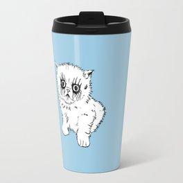 Black Metal Kitty Travel Mug