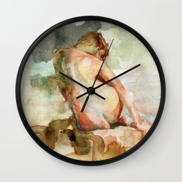 Watercolour Figure Wall Clock