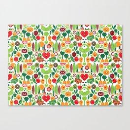 Vegetables tile pattern Canvas Print
