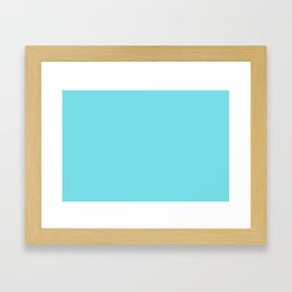 From The Crayon Box – Turquoise Blue - Bright Blue Solid Color Framed Art Print