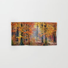 Colorful Autumn Fall Forest Hand & Bath Towel