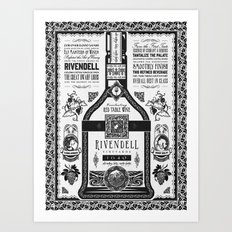 Lord of the Rings Rivendell Vineyards Vintage Ad Art Print