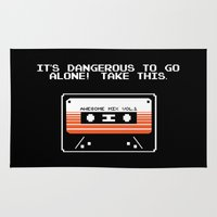 guardians of the galaxy Area & Throw Rugs featuring TAKE THIS TAPE (Zelda & Guardians of the galaxy Parody) by Yiannis