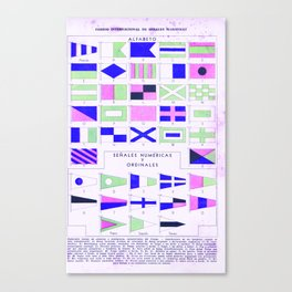 alfabeto Canvas Print