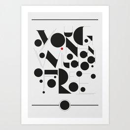 B&W Typography Art Print