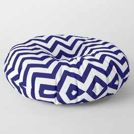 Simple Chevron Pattern - Blue & White - Mix & Match with Simplicity of life Floor Pillow