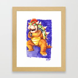 Big King Boozer Framed Art Print