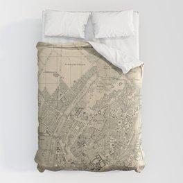 Vintage Map of Copenhagen Denmark (1886) Comforters