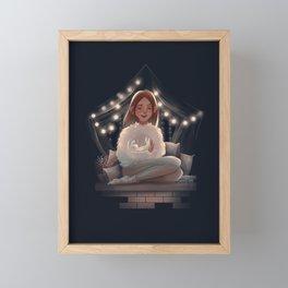 Fluffy Winter Framed Mini Art Print