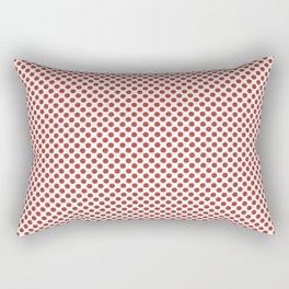 Aurora Red Polka Dots Rectangular Pillow