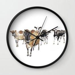 Cow Crowd Wall Clock