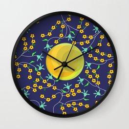 textile pattern 3 Wall Clock