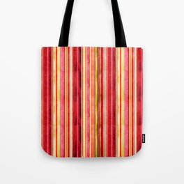 Colorful Stripe Pattern Yellow Green Pink Red Tote Bag