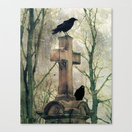 Two Graveyard Crows Canvas Print