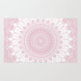 Boho Pink Mandala Rug