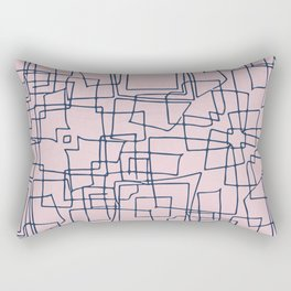 Decorative pink and blue abstract squares Rectangular Pillow