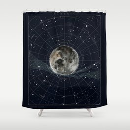 Pathfinder Night Shower Curtain