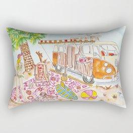 Bus and Beach Fun Rectangular Pillow
