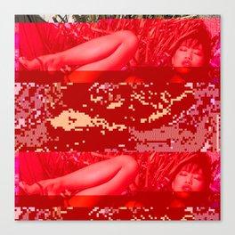 hot summer glitch Canvas Print