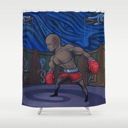 Domino The Destitute Shower Curtain