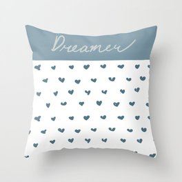 Dreamer hearts Throw Pillow