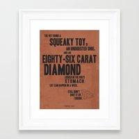 snatch Framed Art Prints featuring Snatch by Megan Oliveri Designs