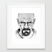 walter white Framed Art Prints featuring Walter White by 13 Styx
