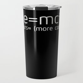 Funny Programming Shirt - E=mc square Travel Mug