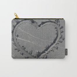 A Sand Formed Heart Carry-All Pouch