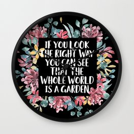 If You Look The Right Way (B+W) Wall Clock