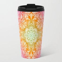 rainbow aura mandala Travel Mug