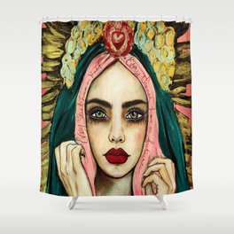 Every saint has a past , very sinner has a future Shower Curtain