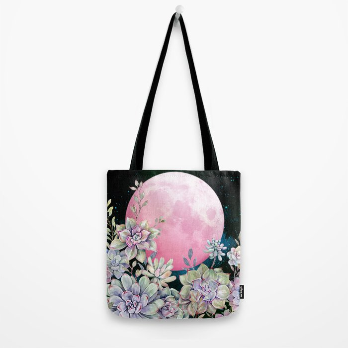 succulent full moon 3 Tote Bag