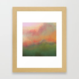 Fiery Morning Framed Art Print