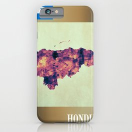Honduras Map with Flag iPhone Case