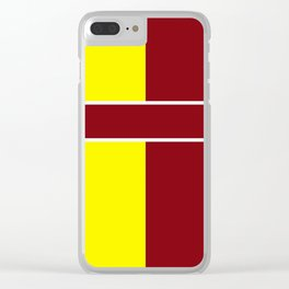Team Colors 6....Maroon,yellow Clear iPhone Case