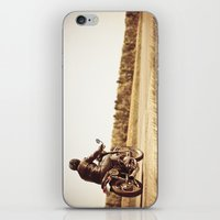 cafe racer iPhone & iPod Skins featuring Vintage cafe racer motorcycle by gabyjalbert