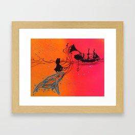 The Ocean Sings The Blues Framed Art Print