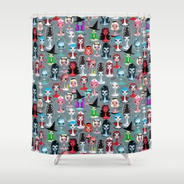 Spooky Dolls Shower Curtain