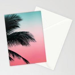 Palms Leaves Sunset Stationery Cards